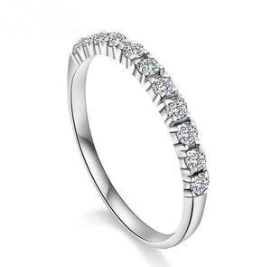 2015 yeni varış romantik sonsuza aşk süper parlak zirkon 925 ayar gümüş ladies'finger yüzük takı