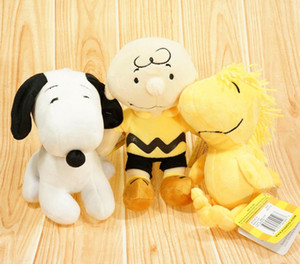 New Peanuts Comics filme Charlie Brown e Snoopy Plush Toys Dolls pequena bonito Woodstock Plush Stuffed Dolls