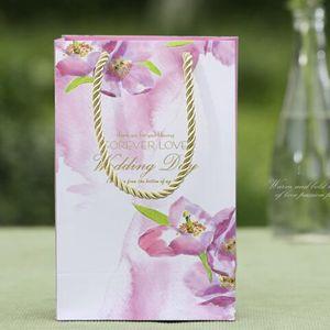 30 шт. ремесло бумаги свадебный подарок сумка с ручкой фиолетовый цвет свадебный подарок Carrry сумка настоящее упаковка коробка партии пользу держатель