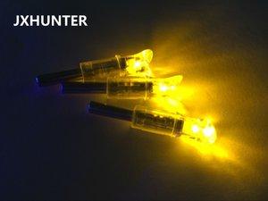 3PK gelbe Farbe Halbmond Pfeil Nocks Pfeil Schwänze für Carbon Armbrustbolzen mit LED-Licht