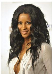 Pelucas del frente del cordón del 100% de la peluca del cordón del pelo humano virginal del color natural parte media peluca de encaje para las mujeres Negro Ciara suelta rizado Bellahair