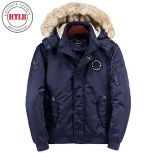 HTLB Brand New Winter Thick Parka Jacket Men Casual Thick Warm Military Fur Jacket Men Snow Hooded Overcoat Bio Down Parka Coat