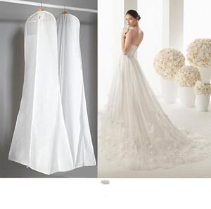 2019 Billig Kein Logo Brautkleider Mit Langen Zug Tasche Kleidungsstück Abdeckung Speicher Staubabdeckung Plus Größe 180 cm Weiß Hochzeit Zubehör
