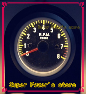탄소 섬유 얼굴 SILVER RIM 타코미터 0-8 rpm 게이지 / 자동 게이지 / 타코미터 / 자동차 미터