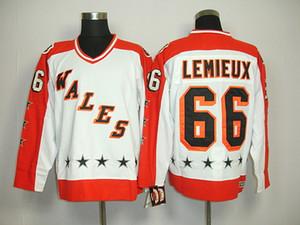 Al por mayor Cheap1984 All Star Wales Jerseys # 66 Mario Lemieux Jerseys Blanco CCM Hombres Retro Ice Hockey Jersey Stitched Name Logos