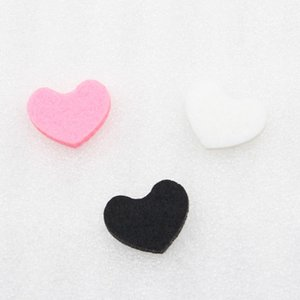 Almohadillas de fieltro de colores para el corazón regular difusor de aromaterapia Aceite esencial Difusor Perfume Locket Colgante de memoria Locket regalo