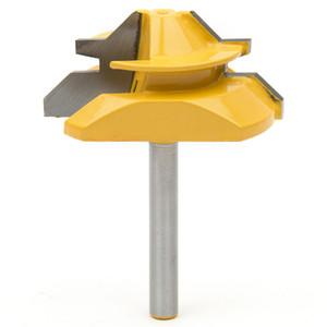 4 Tamanho escolher 45 Graus Bloqueio Mitre Router Bit Tenon Fresa Para Cortador de Madeira ferramenta de Corte ferramentas