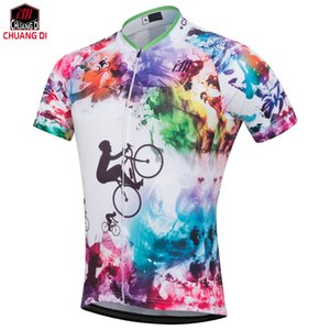 Personalizar Curto dos homens / Mulheres Ciclismo Jerseys Bonito mtb Da Bicicleta Da Bicicleta Roupas de Ciclismo Respirável Rosa Sports Wear