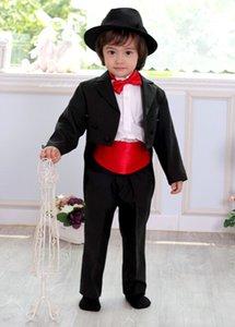Джентльмен мальчик дети цветок одежда из трех частей костюм свадебный костюм высокое качество на заказ(куртка+брюки+пояс)