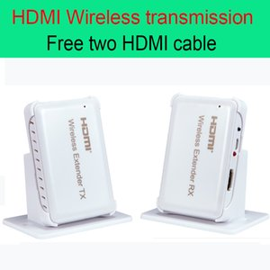 Freeshipping 30m HDMI Wireless transmission Extender 98ft Transmitter and Receiver Support HDMI 1.4 HDCP 1.4 3D 1080P Free two HDMI cable