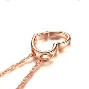 925 de prata esterlina declaração coração itens de cristal jóias com diamantes em forma de pingente de rosa cor de ouro encantos do vintage