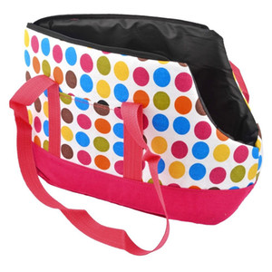 Wholesale-Colorful Polka Dots Pet Dog Cat Carrier Tote Travelling Bag Size S Free-shipping sku: H824901