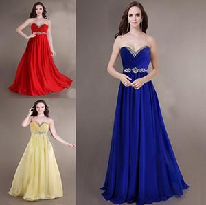ZJ0011 senza spalline sweetheart chiffon royal blue giallo rosso abiti da damigella brides maid bridemaids signore maxi plus size 2019 nuovo arrivo