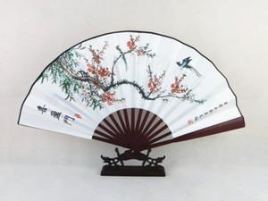 Vintage Pliant Main Fan Traditionnel Artisanat Chinois Décoratif Fan Fan Big Bambou Soie Ventilateur pour Hommes 1 pcs