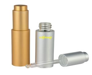 100 unids / lote Envío Rápido 20 ml de Vacío de Aluminio Dropper Aceite Botella Esencial Botellas de Botellas de Líquido de Goteo Rellenable