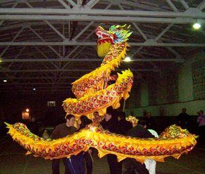 18 m tamaño 3 # 10 adultos 9 personas conjuntas de seda amarilla DANZA DRAGÓN CHINO Festival Folk Celebración mascota traje