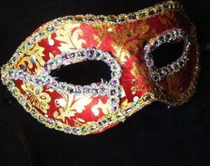 Masque de fête Femmes Sexy Hallowmas Masque Vénitien Masque Mascarade Masque de placage léger Ball Party homme exquis cadeaux de Noël gratuits