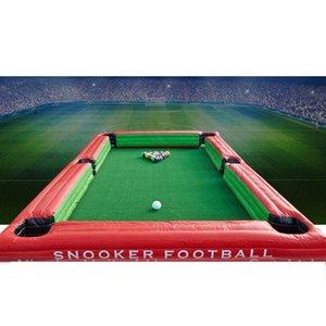 Fútbol de billar inflable, mesa de billar inflable, juego de pelota de billar inflable con bolas un juego para envío