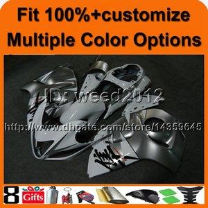 23 colori + 8Gifts Stampo ad iniezione argento GSXR1300 2008 2009 2010 2011 2012 2013 2014 2015 2016 Carenatura moto per Suzuki