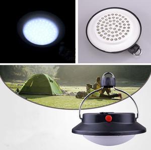 Varejo Ao Ar Livre Indoor Indoor Camping 60 LED Lâmpada com Abajur Círculo Tenda Lanterna Luz Branca Camping Hanging Lâmpada inspiração fogueira