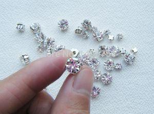 Frete Grátis! 1440 pçs / saco 888 pedra Crystal Clear Sew em Strass Garra Flatback para costurar grânulos de vestuário decoração