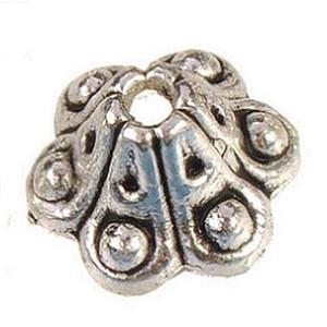 Metal boncuk yapımı için gümüş kapaklar takı boncuk vintage antik yeni diy moda takı bulgular ve aksesuarları sonu caps 8 * 5mm 400 adet