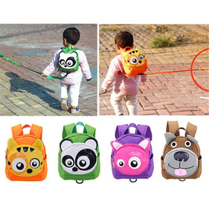 Cute Animal Shape Baby Toddler Safety Harness Leash Tether Anti-lost Children Modeling Strap Backpack School Bag