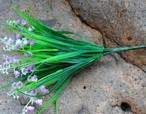 الجملة ريفي أخضر نبات الجرس الاصطناعي الزهور البلاستيكية أوراق العشب بوش الرئيسية الديكور الزهور الشحن مجانا