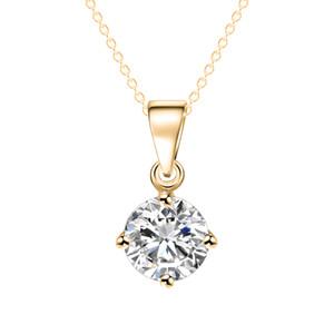 Colar de pingente de prata banhado a ouro colares medalhão diamante gemstones moda jóias colares de ouro