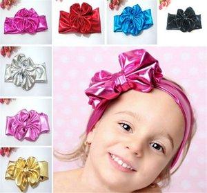 7 Renk Bebek Kız Güzel Büyük Yay Saç Bandı Bebek Çocuk Çocuk Sevimli Tavşan Tavşan Tavşan Headwrap Elastik Metalik Parlaklık Headhands I4253