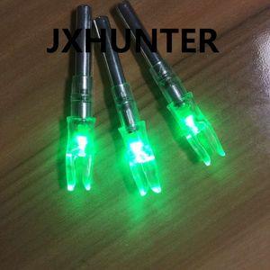 3PK Arco da caccia con arco compound in carbonio con code a freccia illuminato con luce a forma di cocca per frecce ID 6.2mm colore verde