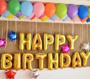 16 pouces Mignon Argent / Or Alphabet A-Z Feuille Lettres Numéro 0-9 Ballons Nouvel An Fête D'anniversaire De Mariage Décoration amour Ballon