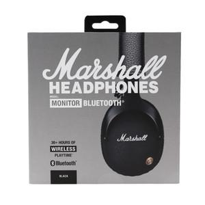Marshall monitor sem fio bluetooth fones de ouvido de alta fidelidade capacete de áudio na orelha sem fio fones de ouvido com caixa de varejo venda quente