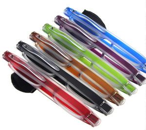 Ultra hafif Taşınabilir 360 Dönen Katlanır Okuma Gözlükleri Ince Ve Kelepçe Optik Çerçeve Mini Okuma Gözlükleri 10 Adet / grup Diopter + 1.00- + 4.00