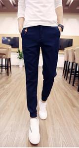 Wholesale-Original retro brand new men's skinny jogger pants casual cotton pleated pants
