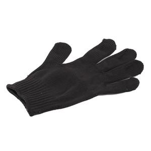 1 Pair Siyah Paslanmaz Çelik Tel Güvenlik İşleri Anti-Slash Cut Direnç Eldivenleri