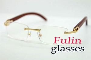 Оптовая продажа фабрики сразу глаз очки бескаркасных для женщин Дерево чтения очки Бесплатная доставка T8100907 Размер: 54-18-140mm