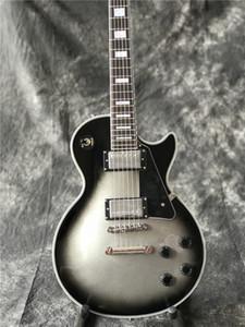 Chegam novas Custom Shop Silverburst Guitarra Elétrica, Alta qualidade Prata Explosão guitarra, Real foto mostra, todas as cores estão Disponíveis