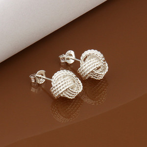Brand new Sterling versilberte Tennis Ohrringe DFMSE013, Frauen 925 Silber baumeln Leuchter-Ohrringe 10 Paare viel