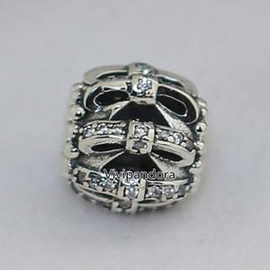 925 Ayar Gümüş Pırıltılı Duyguları Charm Boncuk ile Temizle Cz Avrupa Pandora Stil Takı Bilezikler Kolye Kolye Uyar
