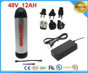 ücretsiz 54.6V 2A şarj cihazı. BMS Kurulu ile 48V 12Ah Li-Ion Su Isıtıcısı Pil, 48 v 12ah elektrikli bisiklet pil