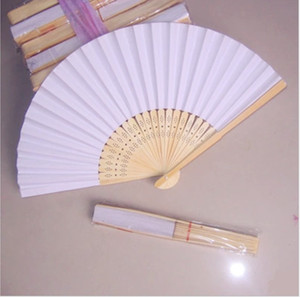 Chinese Fans Chinese Blank Paper Fan Wooden Folding Fan (Set of 50) For DIY Painting Stage Performance Art Collection