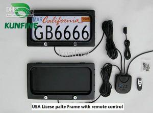 Frete grátis ! Frame da matrícula do carro dos EUA com privac da placa de tampa do quadro da licença do carro do controle remoto