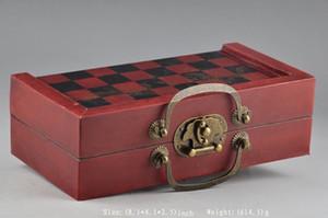 중국 육군 스타일 32 조각 체스는 나무 상자 장난감을 설정