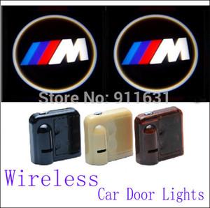 BMW M Için kablosuz Araba Led Kapı Işıkları E34 E36 E39 E46 Araba Logo Kapı Işıkları Araba Projektör Hoşgeldiniz Projektör Gölge