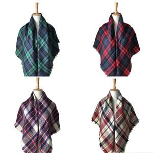 Écharpes à carreaux pour enfants glands rayés écharpe Écharpe enfants tartan Wraps automne hiver bébé écharpe châle mode foulard chaud 16 styles
