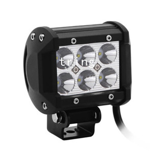 """4 """" дюймов 18 Вт Cree LED рабочий свет бар лампа 4WD грузовик внедорожник ATV пятно наводнения 12 в 24 В для мотоциклов Трактор лодка бездорожье"""