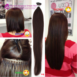 100g set 1g '16''18''20''22''24'' 100% Human Hair I Tip Hair Extensions Remy Indian Factory Price Stright Stick I Tips Hair