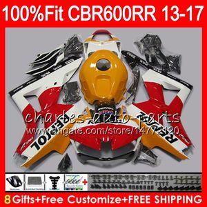 Inyección Para HONDA CBR600 RR CBR 600RR F5 13 17 Repsol naranja 89NO51 CBR 600 RR 13 14 15 16 17 CBR600RR 2013 2014 2015 2016 2017 Fairing
