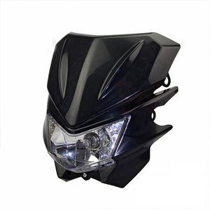 TKOSM motocicleta faros universales ajuste IRBIS TTR250 KLX150 250 KAYO T4 T6 pit pro suciedad moto motocross